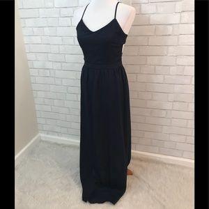 Sans Souci Cut Out Strappy Navy Blue Maxi Dress
